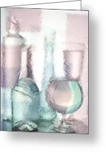 Wine Glasses And Bottles Of Drinks  Greeting Card