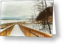 Winter Ice On Lake Michigan Greeting Card