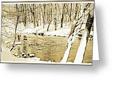 Winter On A Pennsylvania Stream Greeting Card