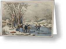 Winter Pastime Greeting Card