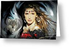Wolf Totem Greeting Card