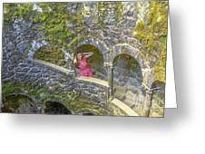 Woman Tourist In Sintra Greeting Card
