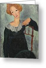 Woman With Red Hair Greeting Card