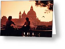 2 Women In Venice Greeting Card