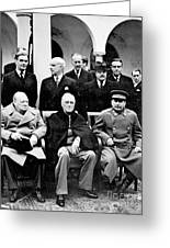 Yalta Conference, 1945 Greeting Card by Granger