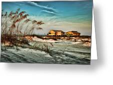 2 Yellow  Beach Houses At Mobile Street Greeting Card