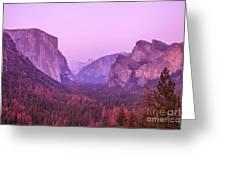 Yosemite Pink Sunset Greeting Card