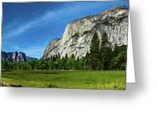 Yosemite Valley Meadow Panorama Greeting Card