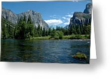 Yosemite Valley View Greeting Card