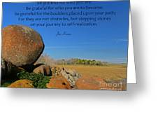 20- Be Grateful Greeting Card