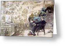 Charles Dickens 1812-1870.  To License For Professional Use Visit Granger.com Greeting Card