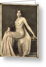 Digital Ode To Vintage Nude By Mb Greeting Card
