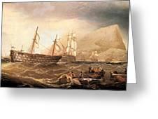 Miller Charles Henry Shipping Off Gibraltar Charles Henry Miller Greeting Card