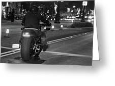 Motorcycles On Main Greeting Card