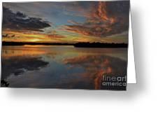 20- Sunset At Burnt Bridge Greeting Card