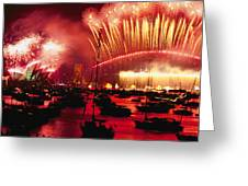 20 Tons Of Fireworks Explode Greeting Card by Annie Griffiths