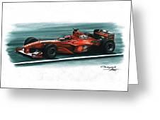 2000 Ferrari F1-2000 Greeting Card