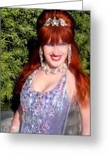 20000 Dollar Dress Of Sofia Metal Queen Greeting Card