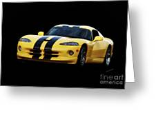 2001 Dodge Viper 'methenol Injected'  Greeting Card