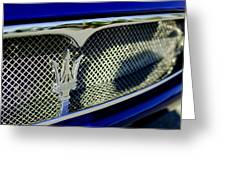 2002 Maserati Hood Ornament Greeting Card