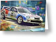 2002 Slovnaft Valasska Rally Toyota Celica Gt Four Liska Jugas  Greeting Card