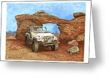 2005 Jeep Rubicon 4 Wheeler Greeting Card