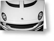 2005 Lotus Elise Hood Emblem -0072bw Greeting Card
