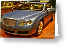 2006 Chicago 2006 Bentley Continental Gtauto Show Greeting Card