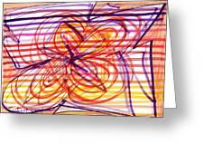 2007 Abstract Drawing 2 Greeting Card