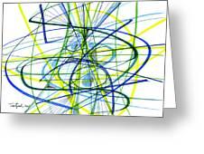 2007 Abstract Drawing 5 Greeting Card