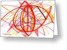2007 Abstract Drawing 6 Greeting Card