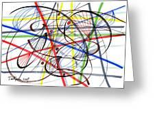 2007 Abstract Drawing 7 Greeting Card