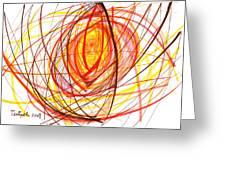 2007 Abstract Drawing 8 Greeting Card