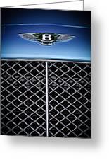 2007 Bentley Continental Gtc Convertible Hood Ornament Greeting Card