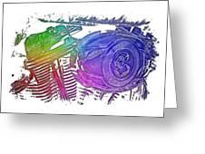 2007 Harley C 01 Cool Rainbow 3 Dimensional Greeting Card