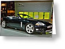 2007 Jaguar Xkr Convertible R No 1 Greeting Card