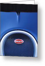 2008 Bugatti Veyron Hood Ornament Greeting Card