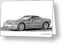Corvette Roadster, Silver Ghost Greeting Card