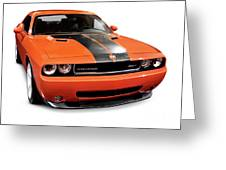 2008 Dodge Challenger Srt Muscle Car Greeting Card