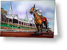 2008 Kentucky Derby Winner Big Brown Greeting Card