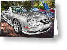 2008 Mercedes Benz Sl500 V8 Coupe Painted   Greeting Card
