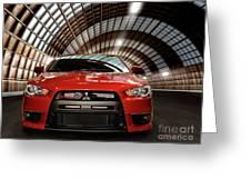 2008 Mitsubishi Lancer Evolution X Greeting Card