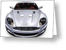 2009 Aston Martin Dbs Greeting Card