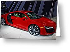 2009 Audi R8 Number 1 Greeting Card
