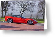 2009 Chevrolet Corvette Zr 1 Greeting Card