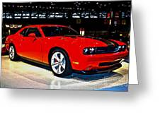2009 Dodge Challenger Number 2 Greeting Card