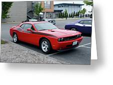 2009 Dodge Challenger Rt Lyster Greeting Card