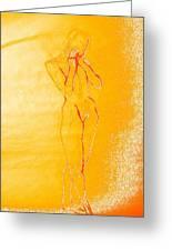 2009 Figure Study 6 Greeting Card by Carol Rashawnna Williams