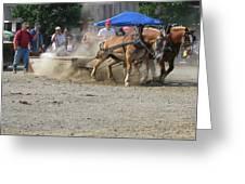 2009 Horse Pull Team A Greeting Card
