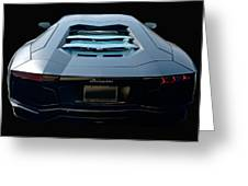 2009 Lamborghini Aventador 'stealth II'  Greeting Card